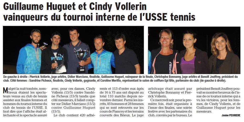 Epi'Tête, nouveau partenaire de l'USSE Tennis