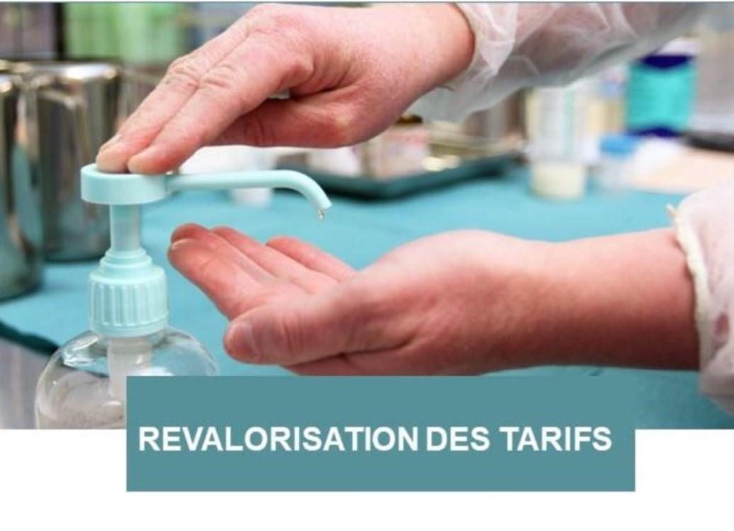 Revalorisation des tarifs